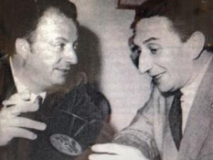 Hans Fritz Beckmann mit dem Komponisten Peter Kreuder (links)