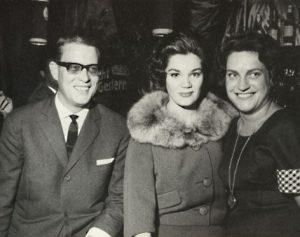 v.l.n.r. Komponist Werner Scharfenberger, Sängerin Connie Francis, Fini Busch